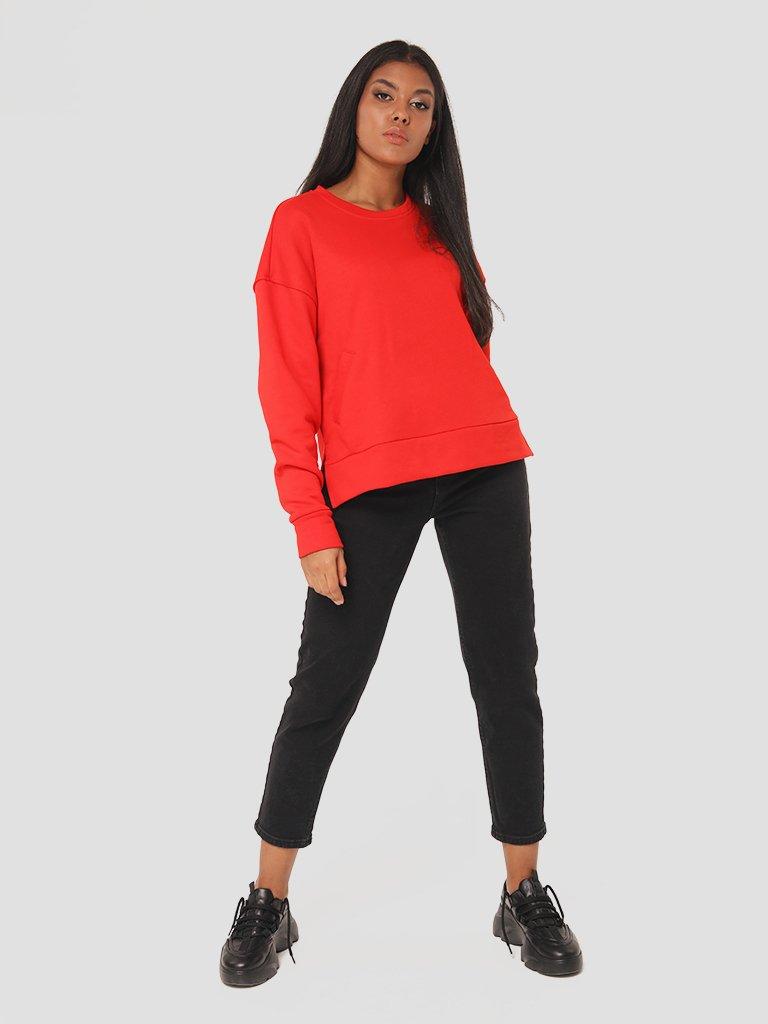 Bluza czerwona o asymetrycznym kroju Katarina Ivanenko (zdjęcie 3)