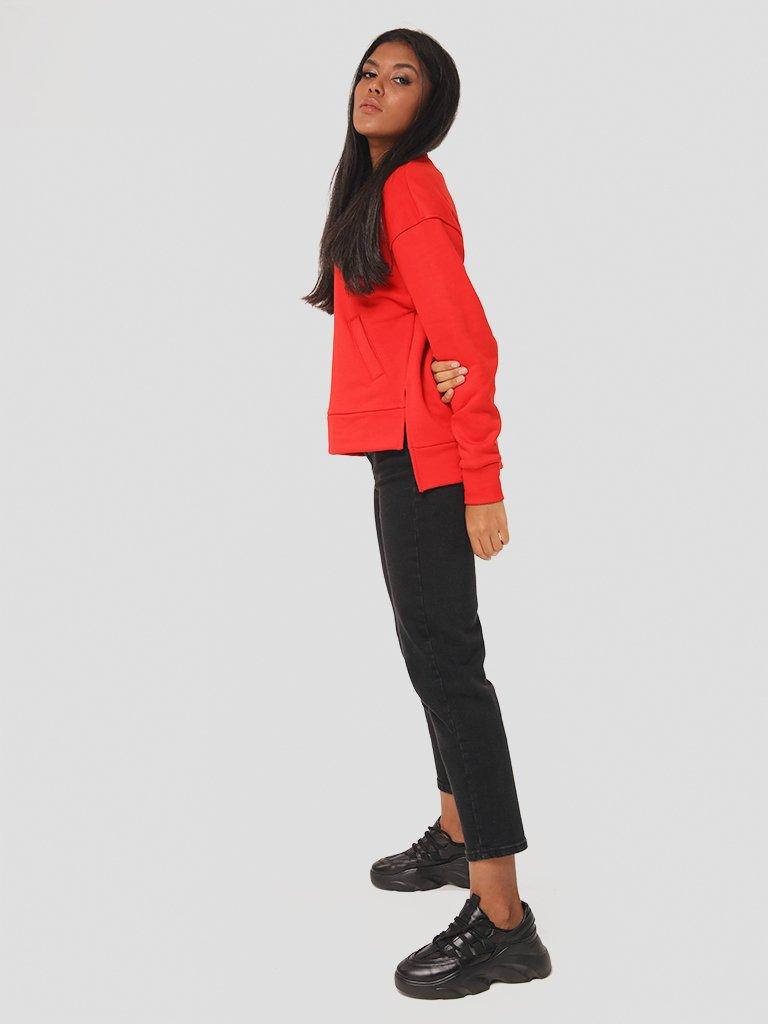 Bluza czerwona o asymetrycznym kroju Katarina Ivanenko (zdjęcie 4)