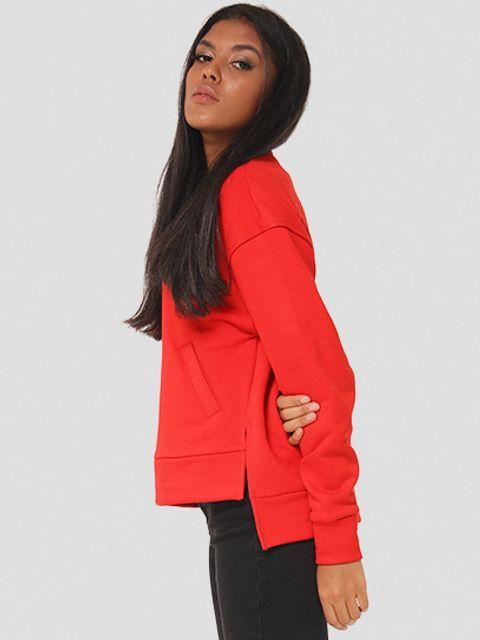 Bluza czerwona o asymetrycznym kroju Katarina Ivanenko