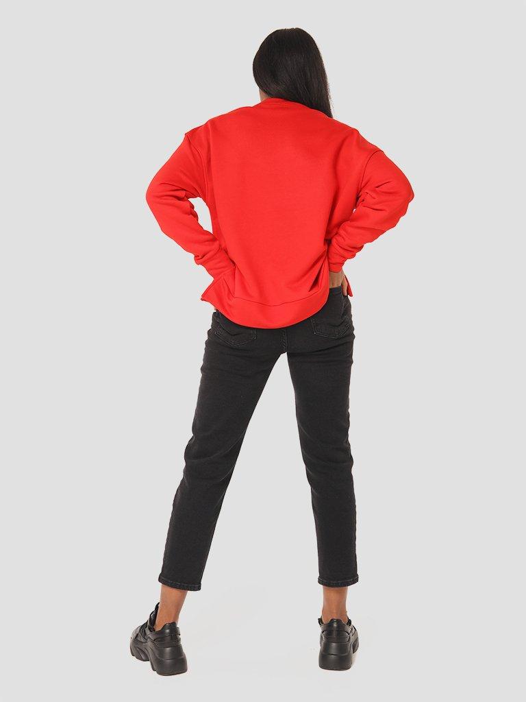 Bluza czerwona o asymetrycznym kroju Katarina Ivanenko (zdjęcie 5)