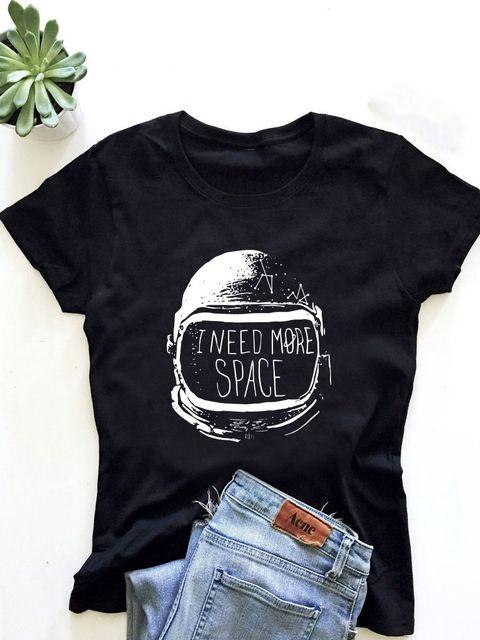 T-shirt męski czarny I need more space ZUZU