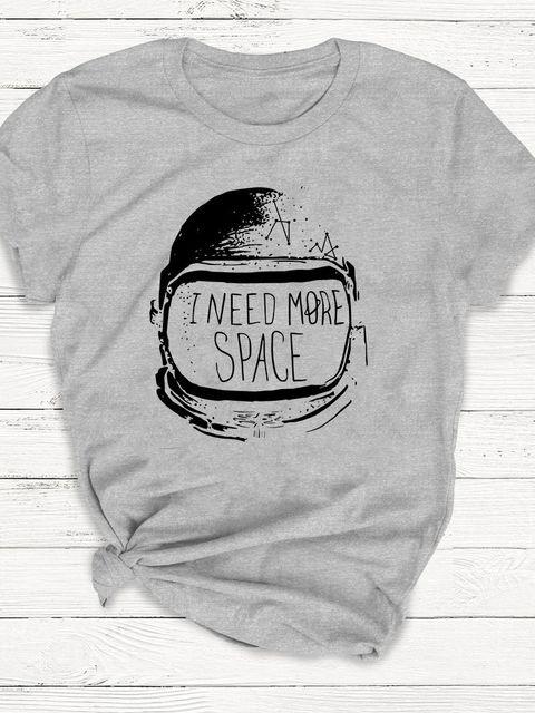 T-shirt męski szary I need more space ZUZU