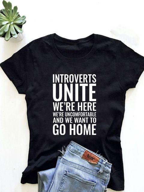 T-shirt męski czarny Introverts Unite ZUZU