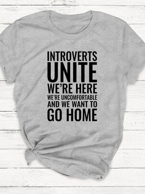 T-shirt męski szary Introverts Unite ZUZU