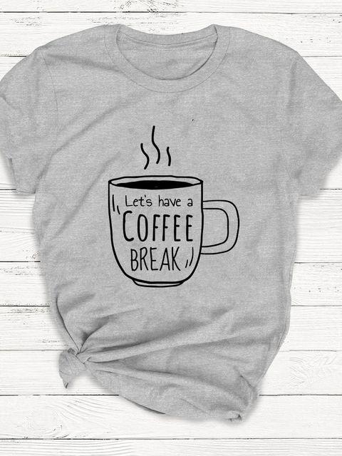 T-shirt męski szary Let's have a coffee break ZUZU