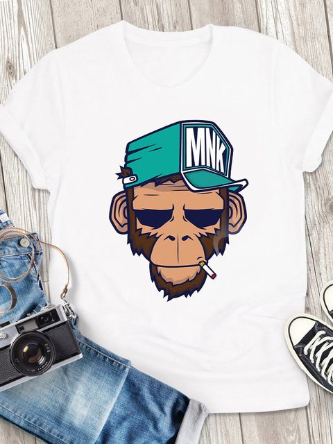 T-shirt męski biały MNK ZUZU