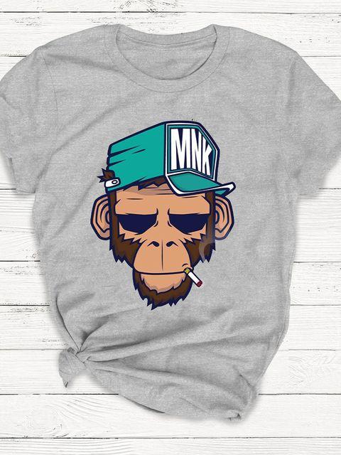 T-shirt męski szary MNK ZUZU