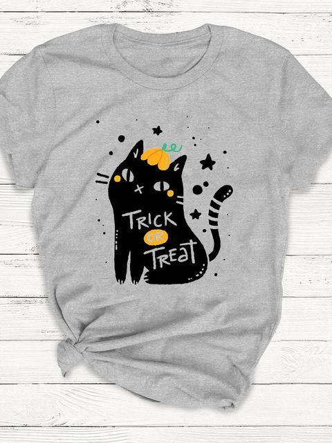T-shirt męski szary Trick or Treat ZUZU