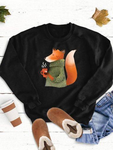 Bluza w kolorze czarnym Ogrzewam się Love&Live