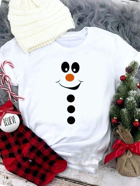 T-shirt biały Bałwan Love&Live