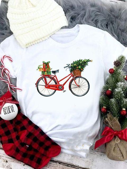 T-shirt biały z Nowym rowerorokiem Love&Live