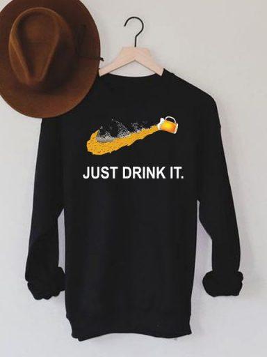 Bluza męska w kolorze czarnym Just drink it Love&Live