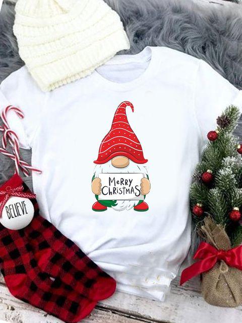 T-shirt biały Merry Christmas Love&Live