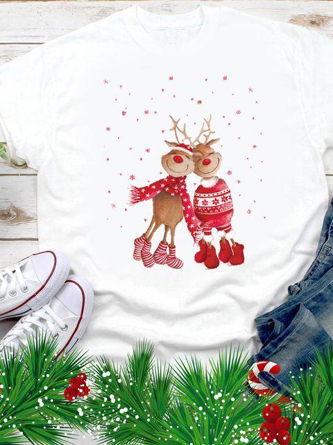 T-shirt męski biały Jelenie Love&Live