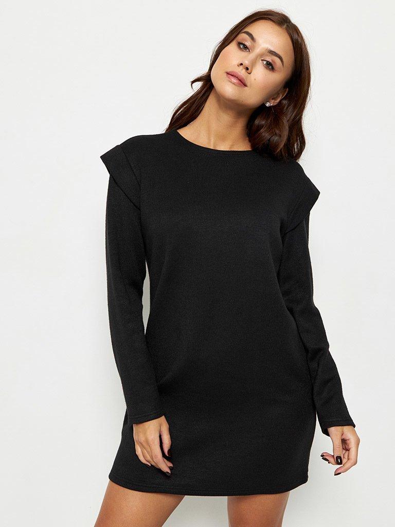 Sukienka mini z angory w kolorze czarnym Love&Live
