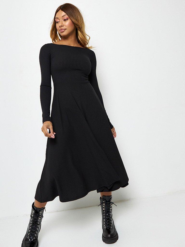 Sukienka midi w kolorze czarnym z odkrytymi plecami Katarina Ivanenko (zdjęcie 3)