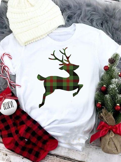 T-shirt biały Christmas deer Love&Live