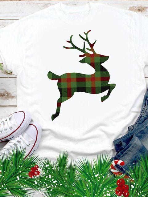T-shirt męski biały Christmas Deer Love&Live