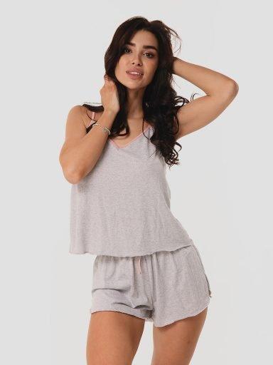 Szara piżama (koszulka i szorty) Love&Live