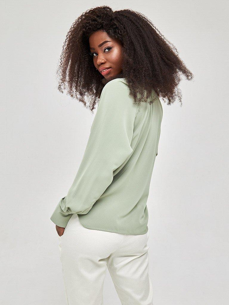 Koszula w kolorze zielonym Katarina Ivanenko (zdjęcie 4)