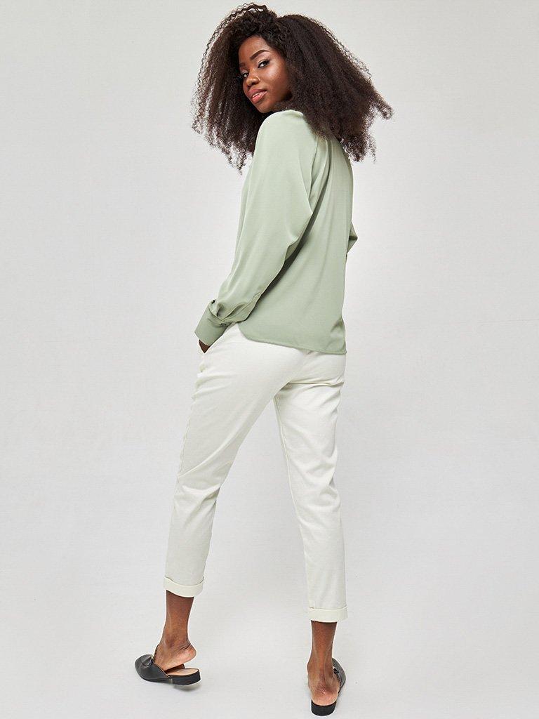 Koszula w kolorze zielonym Katarina Ivanenko (zdjęcie 5)