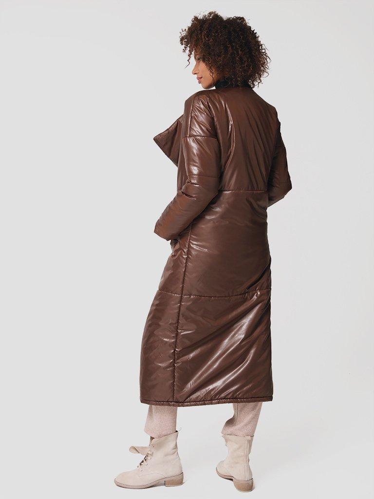 Płaszcz puchowy w kolorze czekoladowym Katarina Ivanenko (zdjęcie 5)