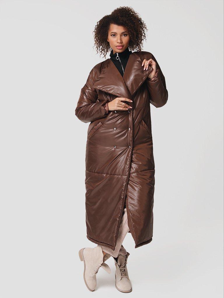 Płaszcz puchowy w kolorze czekoladowym Katarina Ivanenko (zdjęcie 3)