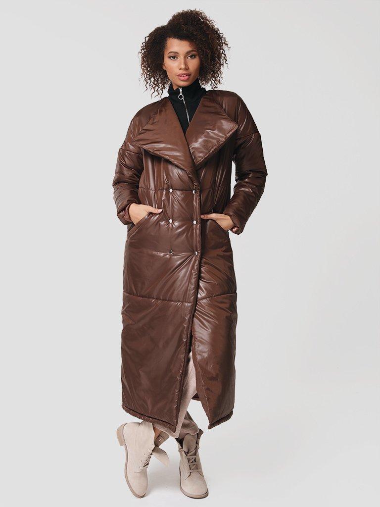 Płaszcz puchowy w kolorze czekoladowym Katarina Ivanenko