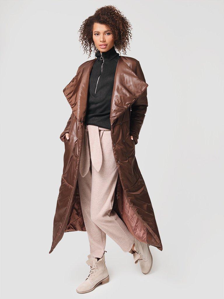 Płaszcz puchowy w kolorze czekoladowym Katarina Ivanenko (zdjęcie 4)
