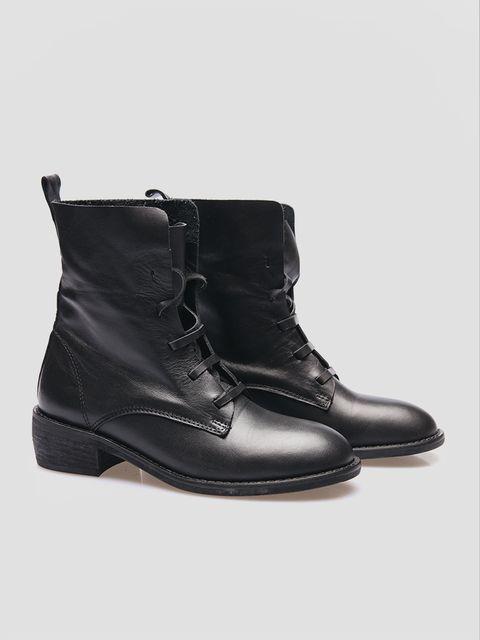 Buty skórzane czarne bez podszewki Katarina Ivanenko