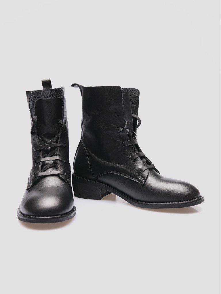 Buty skórzane czarne bez podszewki Katarina Ivanenko (zdjęcie 2)