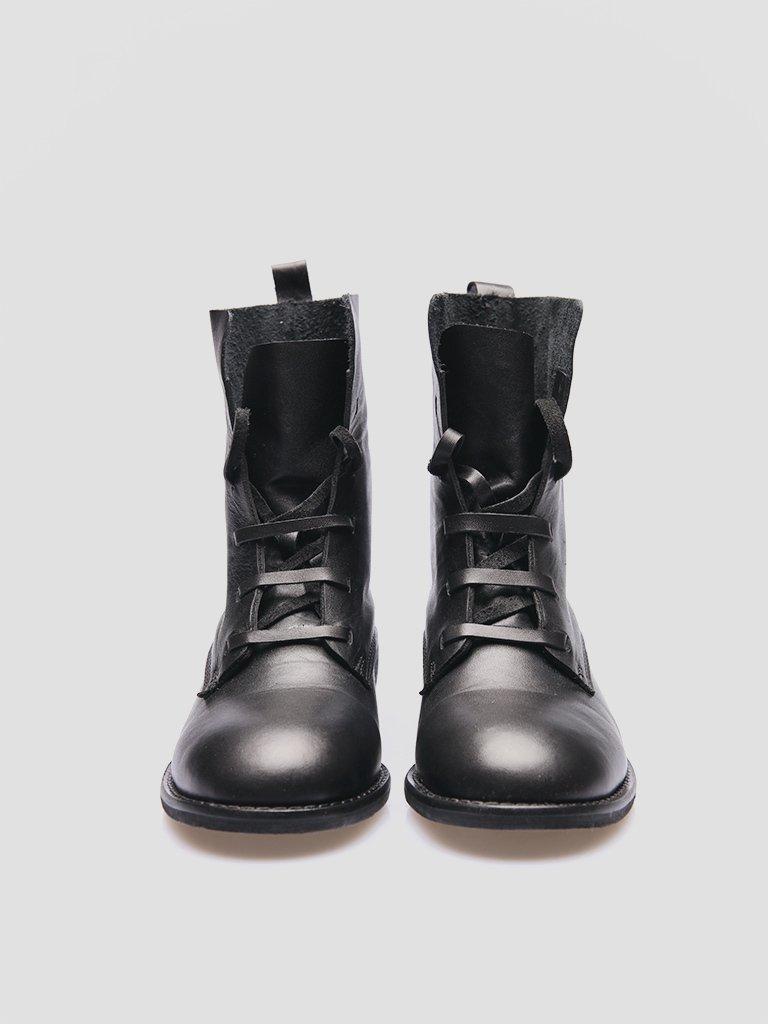 Buty skórzane czarne bez podszewki Katarina Ivanenko (zdjęcie 3)