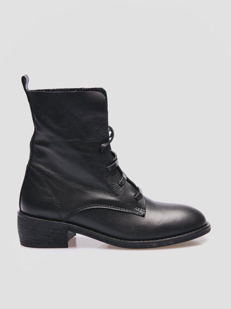 Buty skórzane czarne bez podszewki Katarina Ivanenko (zdjęcie 5)