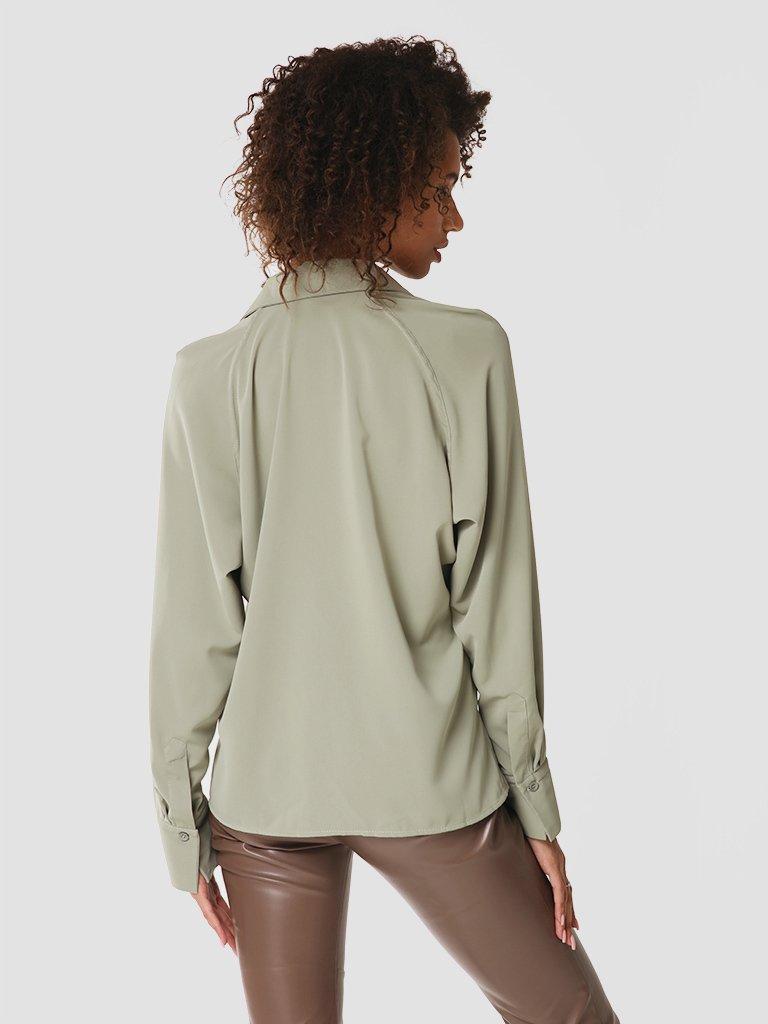 Koszula w kolorze zielonym Katarina Ivanenko (zdjęcie 3)