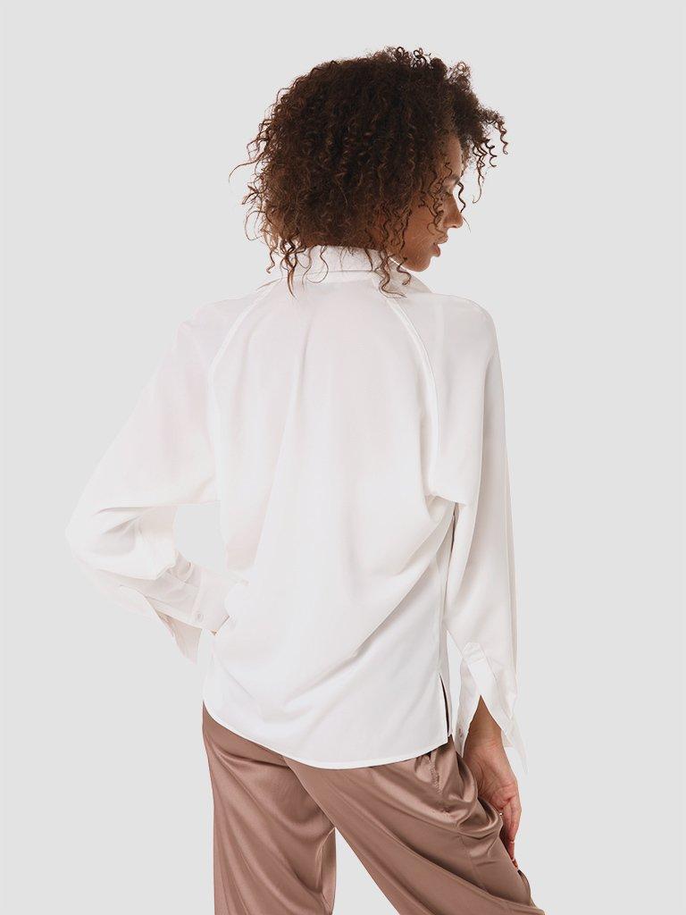Koszula w kolorze mlecznym Katarina Ivanenko (zdjęcie 3)