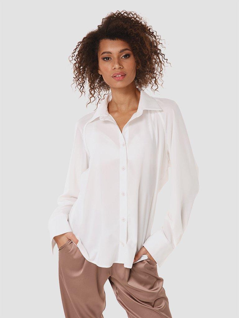 Koszula w kolorze mlecznym Katarina Ivanenko (zdjęcie 2)