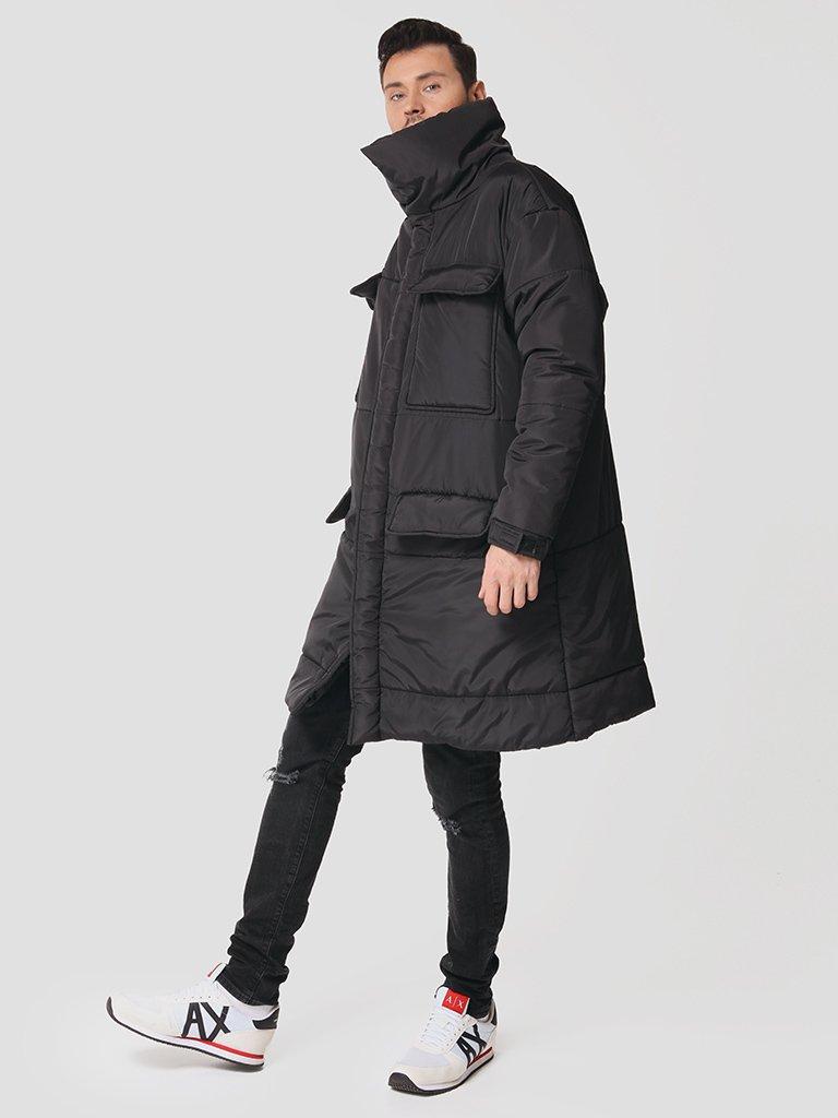 Męska ocieplana kurtka w kolorze czarnym Love&Live (zdjęcie 2)