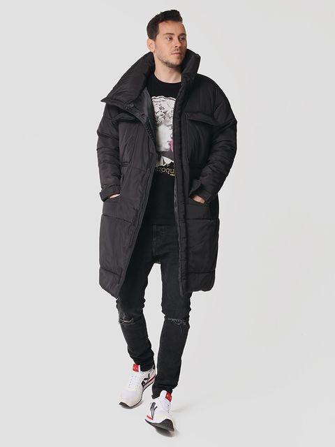 Męska ocieplana kurtka w kolorze czarnym Love&Live