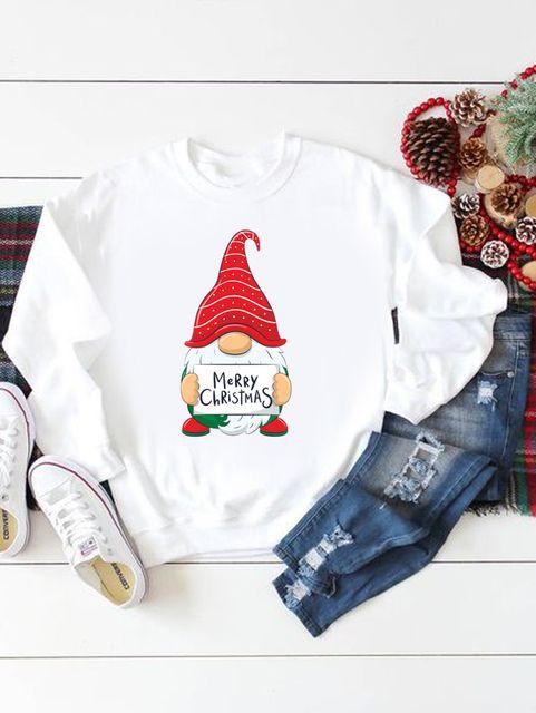 Bluza w kolorze białym Merry Christmas Live&Live