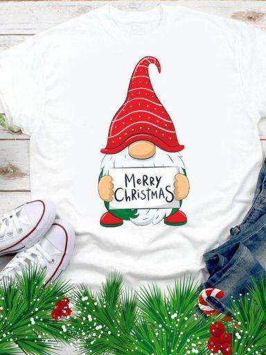 T-shirt męski biały Merry Christmas Love&Live (zdjęcie 9)