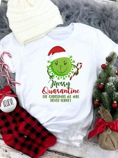 T-shirt biały Merry Quarantine Love&Live