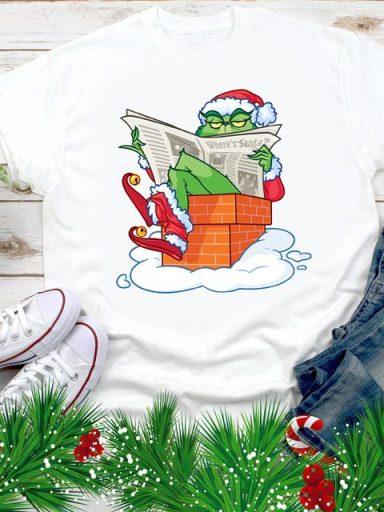 T-shirt męski biały Where's Santa? Love&Live