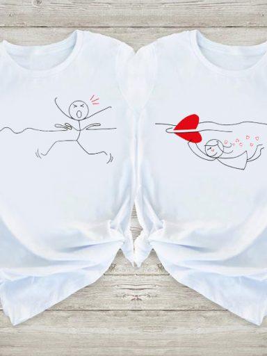 Koszulki dla par Rekin Miłości Love&Live (zdjęcie 10)