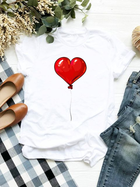 T-shirt biały Powietrzane serce Love&Live