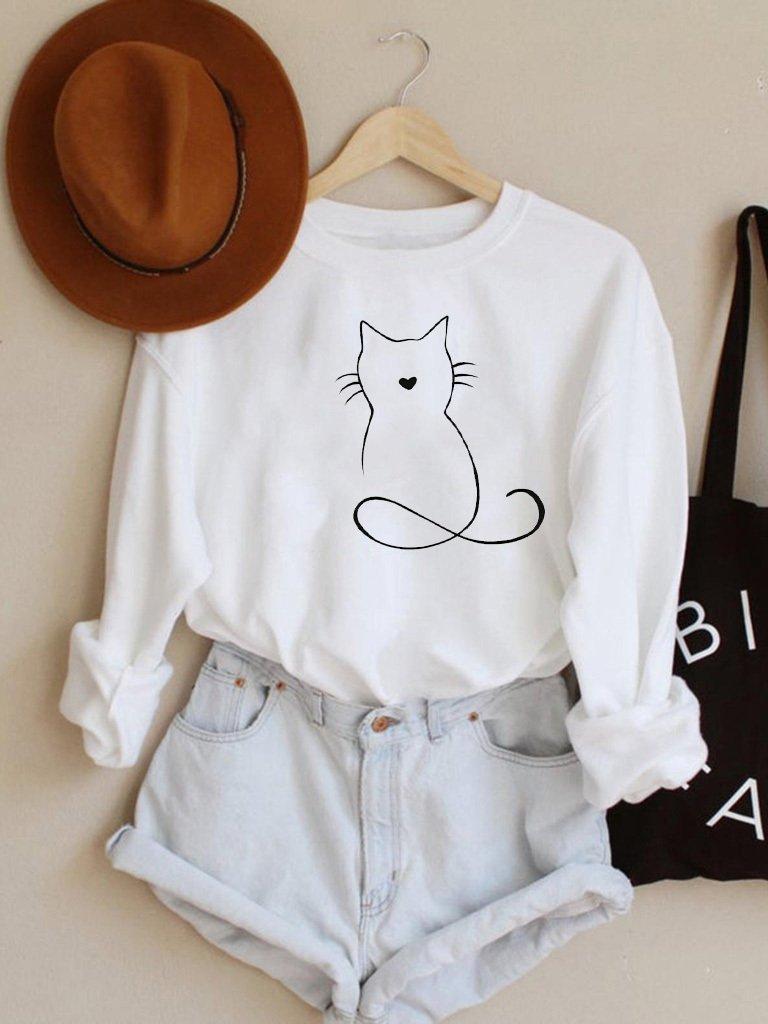 Bluza w kolorze białym Kotek Love&Live