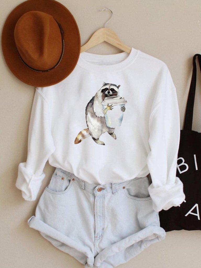 Bluza w kolorze białym Lubię kawę Love&Live