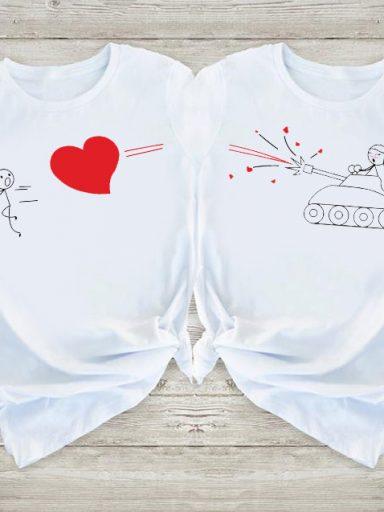 Koszulki dla par Nie Uciekniesz Przed Miłością Love&Live (zdjęcie 13)