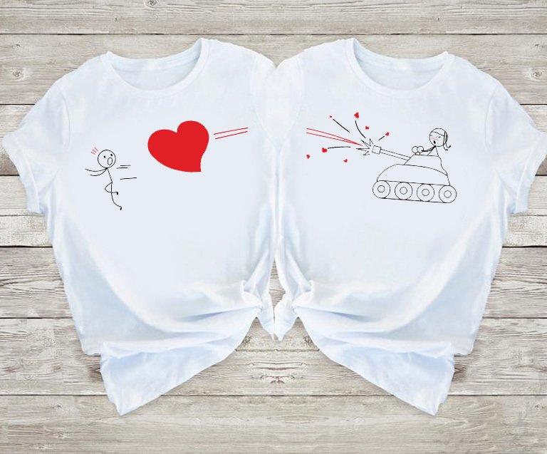 Koszulki dla par Nie Uciekniesz Przed Miłością Love&Live
