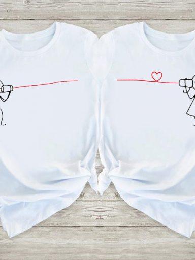 Koszulki dla par Połączenie w parę Love&Live (zdjęcie 11)