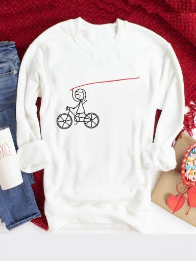 Bluza w kolorze białym Rower Love&Live